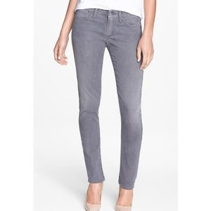Agolde Chloe Low Rise Slim Straight Jeans Grey